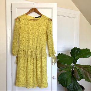 Zara Dress Yellow with Mini Stars